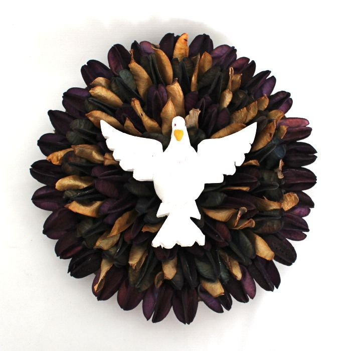Divino Espírito Santo artesanal - Mandala de sementes - Médio - Diversos modelos - Cód.: 6145