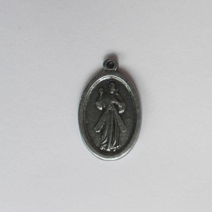 Medalha em níquel de Jesus Misericordioso - pacote com 30 peças - Cód.: 7876