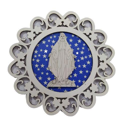 Mandala com Aplique de Nossa Senhora das Graças - O Pacote com 3 peças - Cód.: 7339