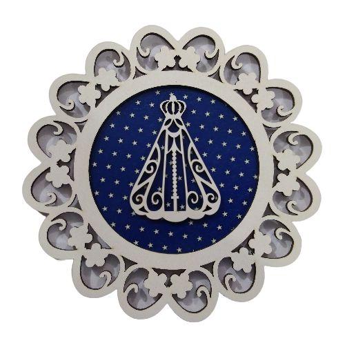 Mandala com Aplique de Nossa Senhora Aparecida - O Pacote com 3 peças -Cód.: 7339