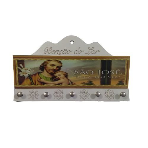 Porta Carta e Chave de MDF - São José - O Pacote com 3 peças - Cód.: 2225