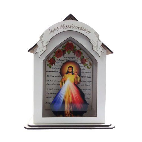 Capela Personalizada em MDF de Jesus Misericordioso - A Peça - Cód.: 7889