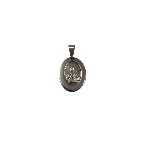 Medalha de Aço Inox com Imagem do Sagrado Coração de Jesus - O Pacote com 6 Peças - Cód.: 1905