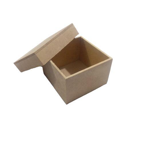 Caixa Simples 8 x 8 x 8 cm, em MDF com Tampa - O Pacote com 6 peças - Cód.: 5059