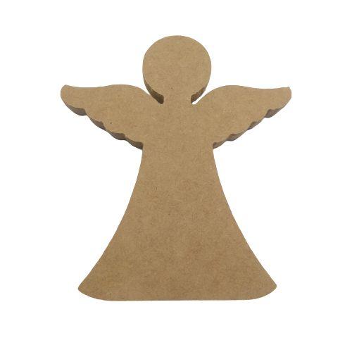 Anjo de 15 cm em MDF - O Pacote com 5 peças - Cód.: 5058