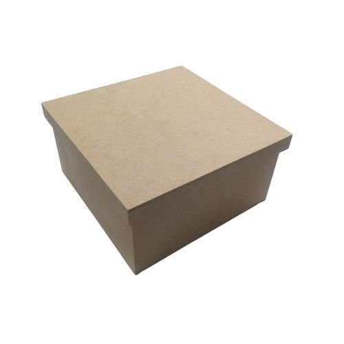 Caixa Simples 20 x 20 x 10 cm, em MDF com Tampa - O Pacote com 3 peças - Cód.: 5120
