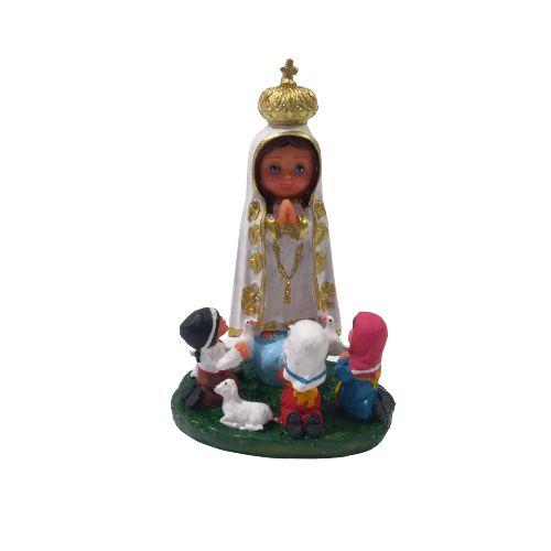 Imagem de Nossa Senhora de Fátima com os Pastores Criança M - A Unidade - Cód.: 2561