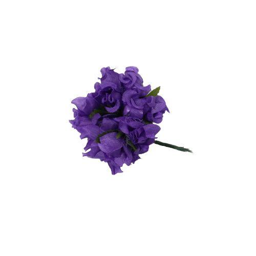 Mini Buquê de Rosa Arificial Roxa - A Dúzia - Cód.: 9842