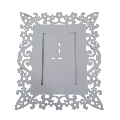 Porta Retrato em MDF Pintado - Flores - A Unidade - Cód.: 748