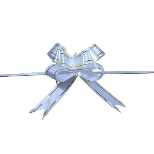 Laço para Presente M na Cor Branca - O Pacote com 200 unidades - Cód.: 8930