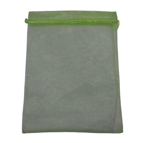 Saquinho de Organza da Cor Verde Claro - O Pacote com 50 peças - Cód.: 8128