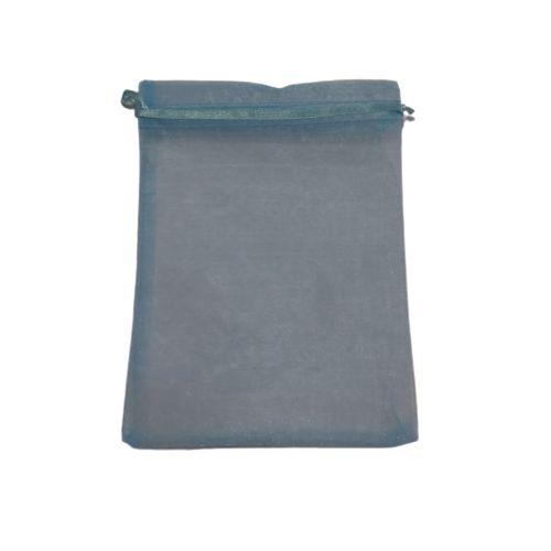 Saquinho de Organza na Cor Azul Claro - O Pacote com 50 peças - Cód.: 467