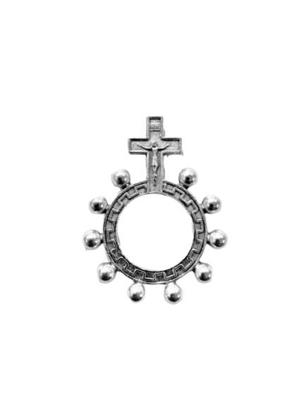 """Anel """"Coroa de Espinhos"""" com banho em cor prata velha - A Dúzia - Cód.: 8000"""