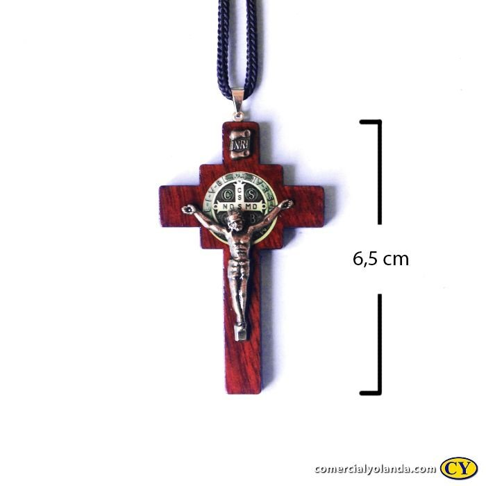 Crucifixo de São Bento no cordão - A Dúzia - Cód.: 6334