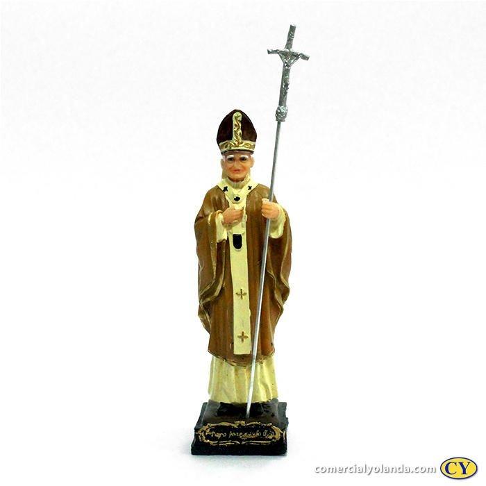 Imagem Papa João Paulo II de 15 cm - A Unidade - Cód.: 7760