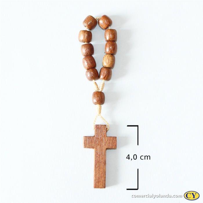 Dezena em madeira com Pai Nosso sem cristo - A Dúzia - Cód.: 9711