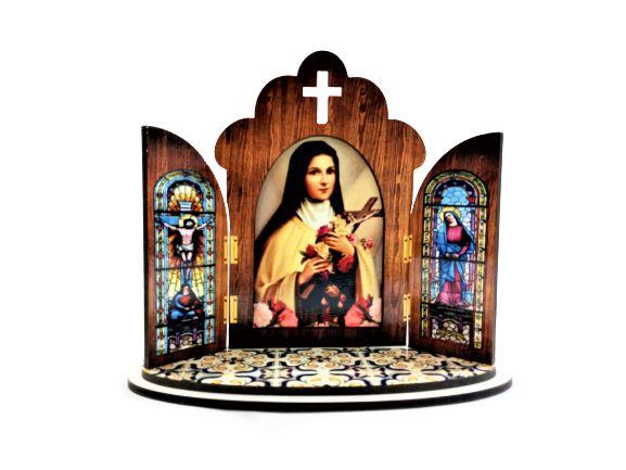 Capela modelo Portuguesa de Santa Terezinha - O Pacote com 3 peças - Cód.: 6355