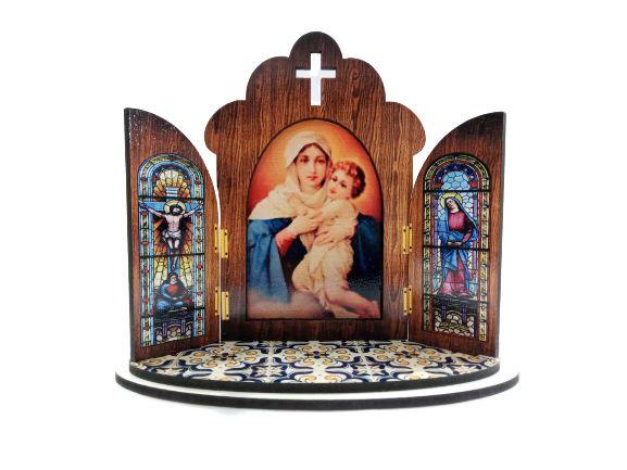 Capela modelo Portuguesa da Mãe Rainha - O Pacote com 3 peças - Cód.: 6355