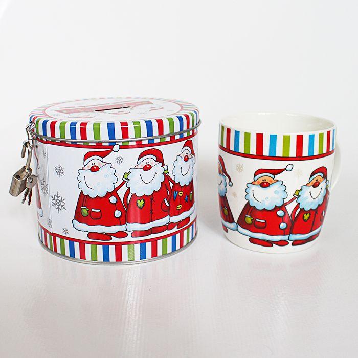Caneca com cofre de Natal - A unidade - Ref.: 99228