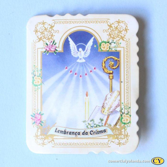 Cartão de Lembrança de Crisma com Dezena de terço - Pacote com 50 peças - Cód.: 1910