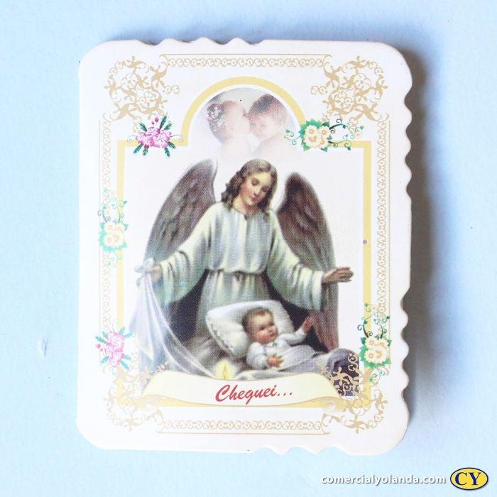 Cartão de Lembrança de Nascimento com Dezena de terço - Pacote com 50 peças - Cód.: 1910