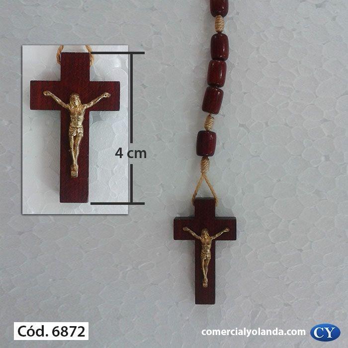 Terço gargantilha, em madeira, com cristo - A Dúzia - Cód.: 6872