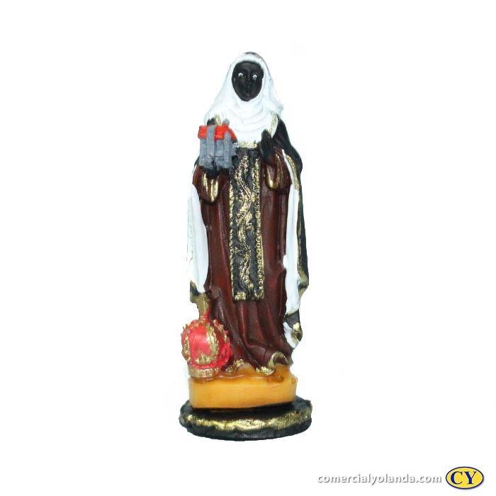 Imagem de Santa Efigênia PP em Resina - O Pacote com 3 unidades - Cód.: 5774