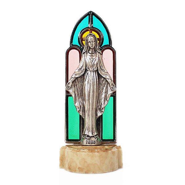 Pia para água benta de Nossa Senhora das Graças - Vitral - A Unidade - Cód.: 8181