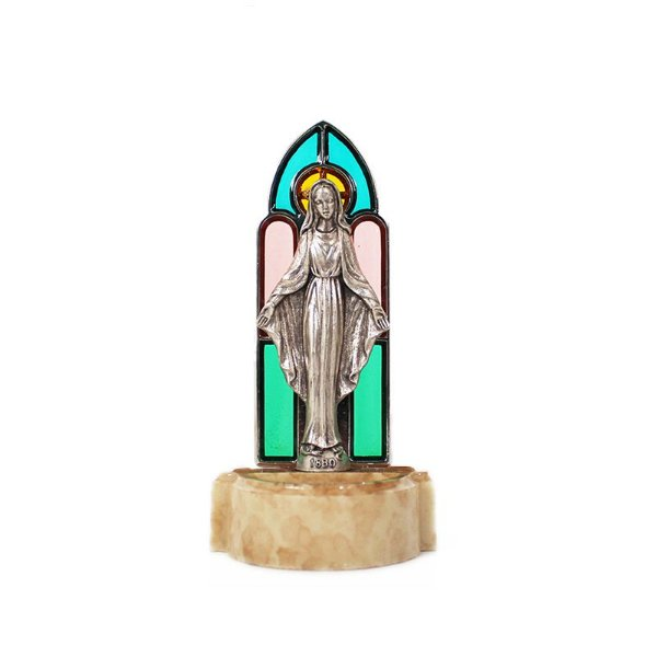 Pia para água benta pequena - Nossa Senhora das Graças - Vitral - A Unidade - Cód.: 8129