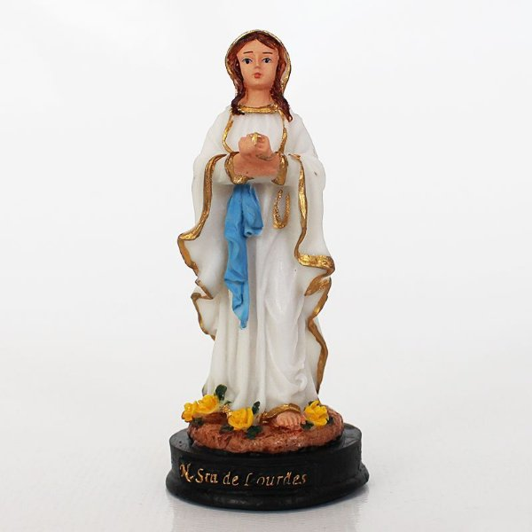 Imagem de Nossa Senhora de Lourdes P em Resina - Pacote com 3 Unidades - Cód.: 8564