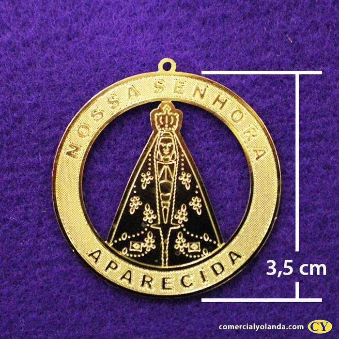 Medalha dourada de Nossa Senhora Aparecida - A Dúzia - Cód.: 0652