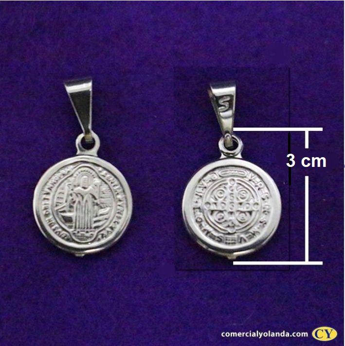 Medalha de São Bento em Inox- O pacote 3 peças  - Cód.: 6022
