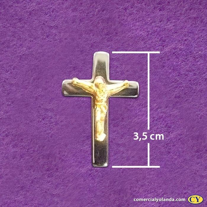 Cruz em hematita com jesus em metal cor dourado - A Dúzia - Cód.: 514