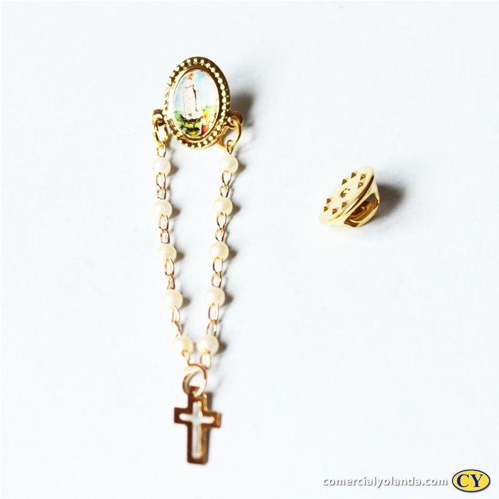 Broche de Nossa Senhora de Fátima - A Dúzia - Cód.: 0590