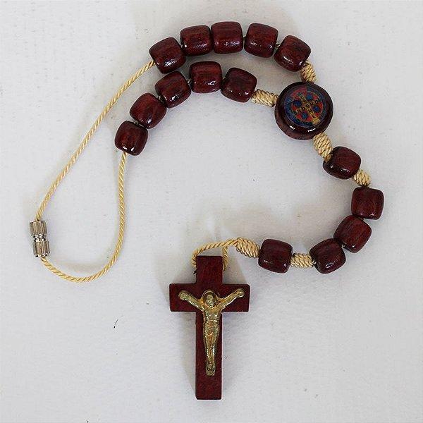 Dezena com fecho e entremeio resina de Medalha de São Bento - A Dúzia - Cód.: 0822
