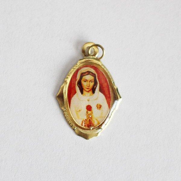 Medalha de Alumínio Resinada - Rosa Mística - Pacote com 100 peças - Cód.: 447