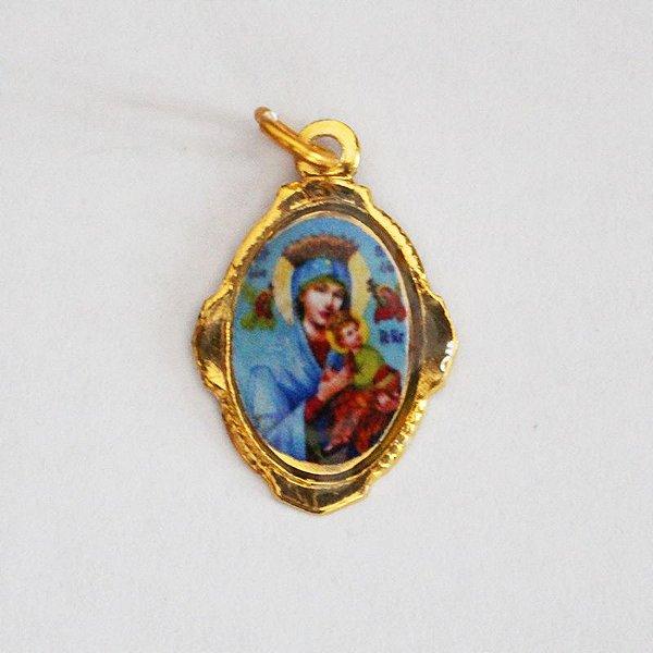 Medalha de Alumínio Resinada - Perpétuo Socorro - Pacote com 100 peças - Cód.: 447