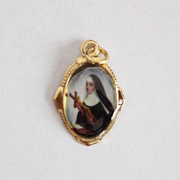 Medalha de Alumínio Resinada - Santa Rita - Pacote com 100 peças - Cód.: 447