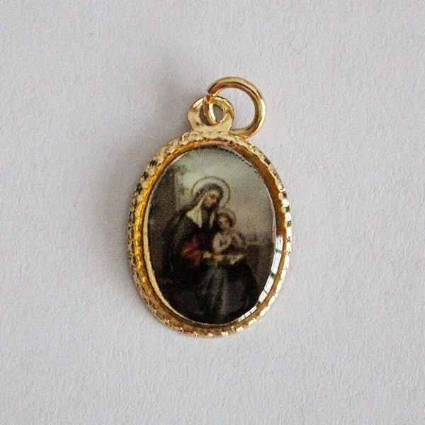 Medalha de Alumínio Resinada - Santa Ana - Pacote com 100 peças - Cód.: 447
