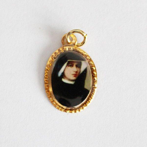 Medalha de Alumínio Resinada - Santa Faustina - Pacote com 100 peças - Cód.: 447