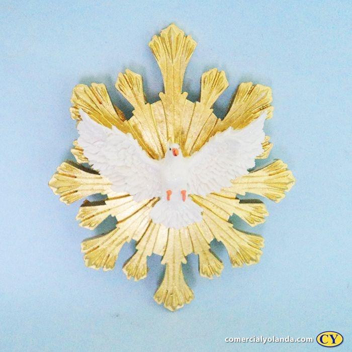 Divino Espirito Santo de parede em resina - Pacote com 3 peças - Cód.: 5535
