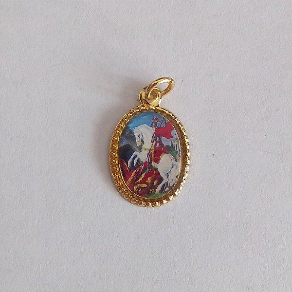 Medalha de Alumínio Resinada - São Jorge - Pacote com 100 peças - Cód.: 447
