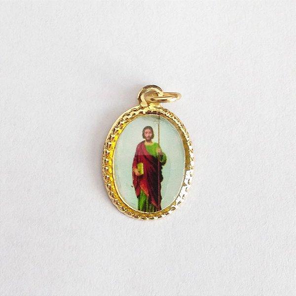 Medalha de Alumínio Resinada - São Judas Tadeu - Pacote com 100 peças - Cód.: 447