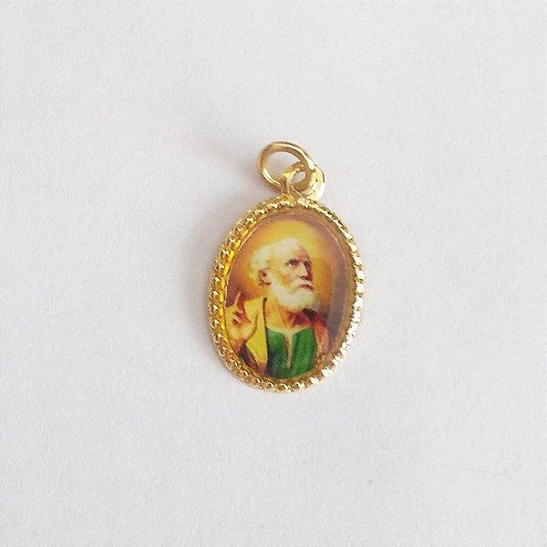 Medalha de Alumínio Resinada - São Pedro - Pacote com 100 peças - Cód.: 447