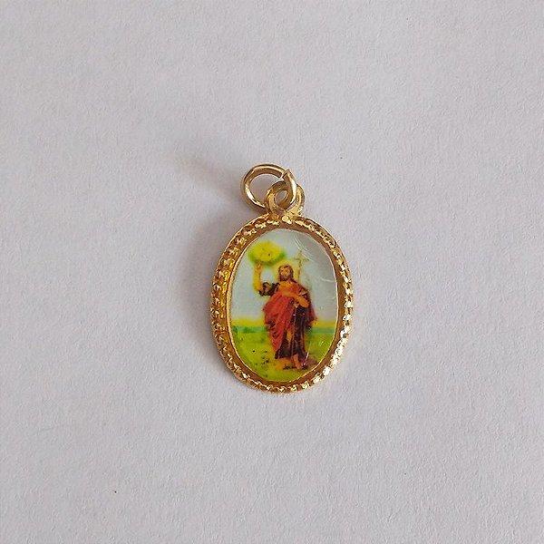 Medalha de Alumínio Resinada - São João Batista - Pacote com 100 peças - Cód.: 447