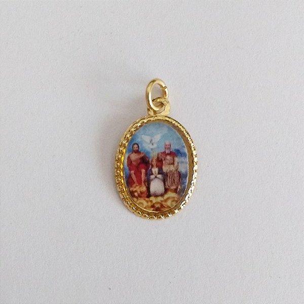 Medalha de Alumínio Resinada - Divino Pai Eterno - Pacote com 100 peças - Cód.: 447