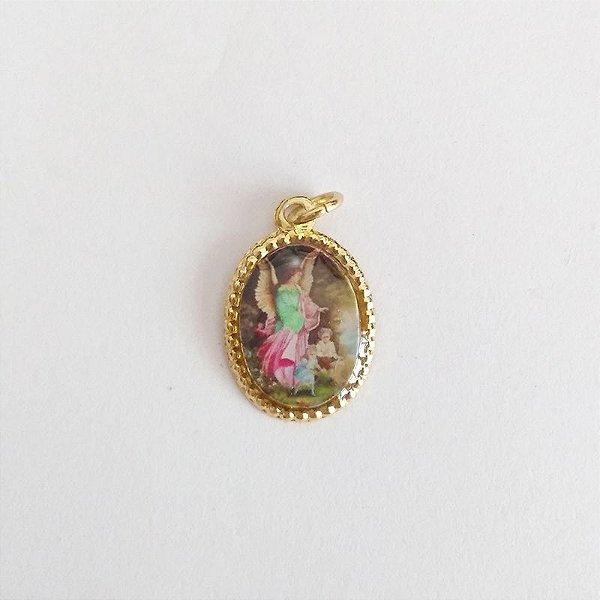 Medalha de Alumínio Resinada - Anjo da Guarda - Pacote com 100 peças - Cód.: 447