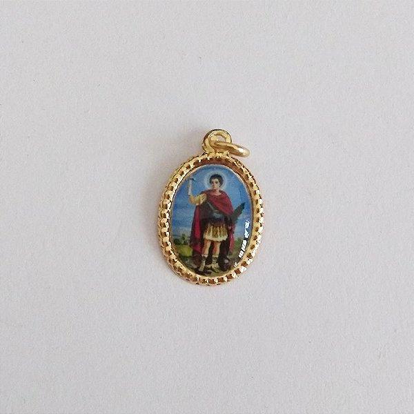 Medalha de Alumínio Resinada - Santo Expedito - Pacote com 100 peças - Cód.: 447