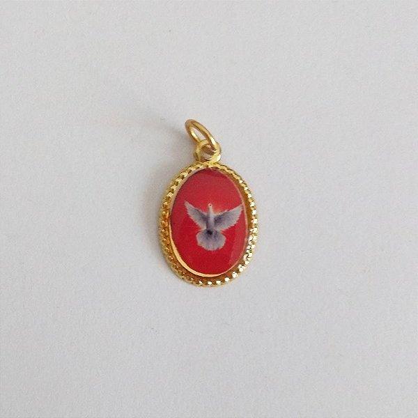 Medalha de Alumínio Resinada - Divino Espírito Santo - Pacote com 100 peças - Cód.: 447