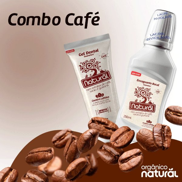Combo Oral Care - Linha Café (Gel + Enxaguante)